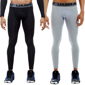 Mens Compression Running Tights Bottoms Under Skins Base Layer Quick Dry Pants
