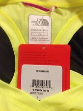 NWT Vapor Wick THE NORTH FACE Dayglo Yellow Reaxion Amp V-Neck Shirt Size L