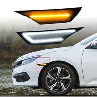 Dynamic LED Side Indicator Light For Honda Civic X Sedan Coupe Hatchback 16-19