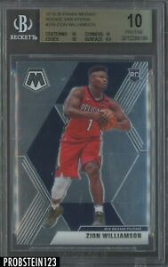 2019-20 Panini Mosaic #209 Zion Williamson RC Rookie Variation BGS 10 PRISTINE