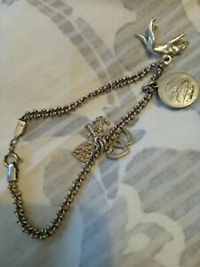 Child's Silver 925 Braclet With Charms  18cm Lenght (#151)