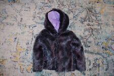 American Widgeon Purple Faux Fur Hooded Coat- 4T