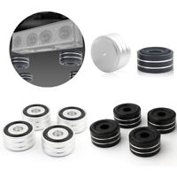 4Pcs 40x20mm Aluminum HIFI AMP Speaker Isolation Stand Turntable DAC Feet Pad US