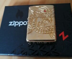 Zippo golden plated Chinese dragon
