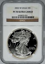 2002-W NGC PF70 Ultra Cameo Proof Silver Eagle