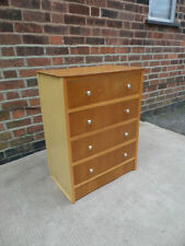 Bedroom Vintage/Retro Wood Veneer 4 Chests of Drawers