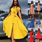 Women Vintage Style 50s 60s Lapel Housewife Casual Party Swing Rockabilly Dress