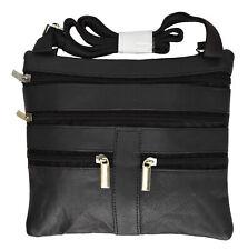 "Ladies Genuine Leather Cross Body Bag Satchel Messenger Bag 48""Strap"