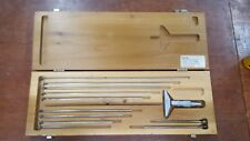 Vintage Scherr-Tumico SAE0619 depth micrometer 13 pc kit in wooden case