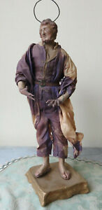 190612 Antica statuina di Santo in terracotta.  Italia meridionale , Ottocento.