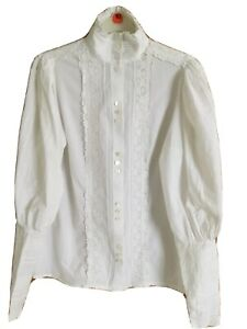 Laura Ashley Vintage White Blouse 12