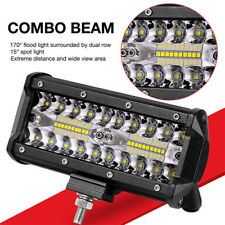 7 inch 120W LED Work Light Bar Flood Spot Beam Offroad 4WD SUV UTE Driving Fog