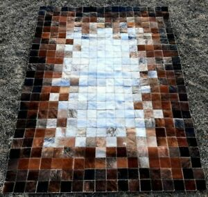 COWHIDE PATCHWORK CARPET AREA RUG Cow hide FANTASY small WOWW