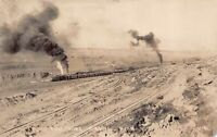Real Photo Postcard Hull Rust Mine Railroad Train in Hibbing Minnesota~128393
