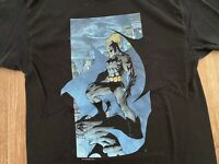 Vintage DC Comics Batman T-Shirt Super Hero L Black Shirt