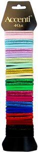 Pack Of 40 Hair Elastics Bands Hairbands Assorted Colour Ponytail Holder Bobbles