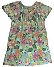 Plus Size Women's Cotton Dress Handmade Bright Blue Green Orange Sz XL