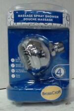 NEW Brasscraft 2102 Massage Spray 4 Settings Shower Head Chrome