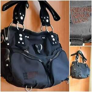 GEORGE GINA & LUCY Shoulder bag Polyester GrayBlack (damaged,uncompleted)
