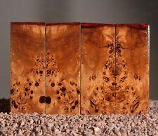 4 x scales poplar Stabilized burl wood 120 x 46 x 8 mm.