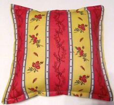 American French Country Cottage Floral Garden Blue Red Yellow Gold Pillow Accent