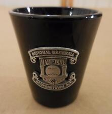 National Baseball MLB Hall of Fame Cooperstown N.Y. Black Shot Glass