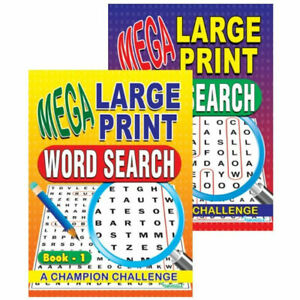 Mega Large Print Word Search Book - A4 Activity Puzzle Puzzles Games Brain Game