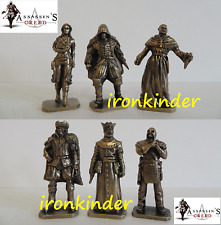 Assassin's Creed bronze metall collectible miniature figure 40mm Extra Rare set!