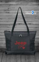 Jeep Girl Zippered Tote Bag