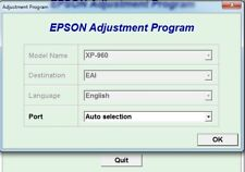 Reset Epson Xp960 Reset ink pads counter