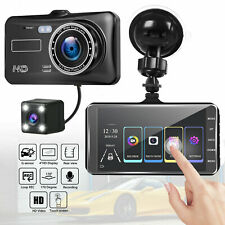 4 inch HD 1080P Dual Lens Car DVR Touch Screen Dashcam Camera Video Recorder SD