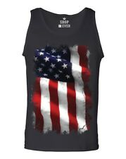 Large American Flag Patriotic Men's Tank Top 4th of July USA Flag Tank Tops
