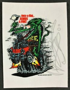 Once A Fink STICKER Decal Always A Fink Ed Roth Rat Fink Official Original