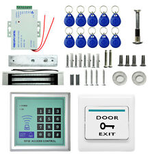 125KHz RFID ID Keyfobs One Door Access Control Machine Kit Electric Strike Locks