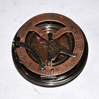 "Antique vintage brass compass 4"" maritime marine sundial compass good gift item"