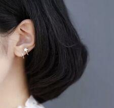 Ohrringe, Durchzieher, 925 Silber, Spirale (Kringel), Stern, 1 Paar, NEU