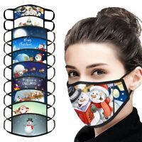 Weihnachten Mundmaske Staubschutz Gesichtsmaske Waschbare Maske Earloop Mask