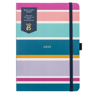 SECONDS Busy B Busy Life Diary Stripe   Jan - Dec 2022   Weekly Dual Schedule