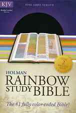 KJV Rainbow Study Bible, Brown Bonded Leather BRAND NEW!!!