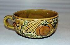 Mid Century Vintage Japan Avocado Green Vegetable Theme Ceramic Soup Bowl