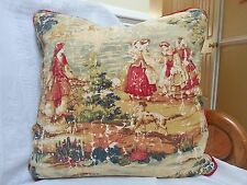 BOSPORUS FRENCH COUNTRY DECORATIVE PILLOW/EUROPEAN COLONEAL/TRIMMED/18X18