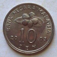 Malaysia 10 sen 2003 coin (A)