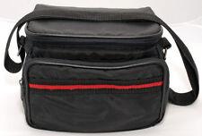 BLACK & RED Vintage Photo Camera Bag Shoulder Neck Nikon Canon Sony Fuji Leica