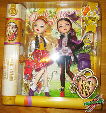 Ever After High SCHOOL SPIRIT 2 PACK SET APPLE WHITE AND RAVEN QUEEN Dolls NEW