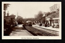 Treharris Railway Station - real photographic postcard