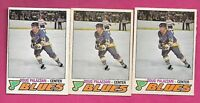 3 X 1977-78 OPC # 354 BLUES DOUG PALAZZARI ROOKIE  CARD (INV# A9741)