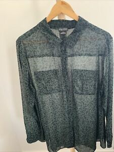 City Chic Sheer Blouse XS