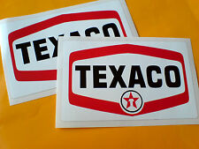Texaco petroleum voiture moto autocollants stickers 2 off 125mm