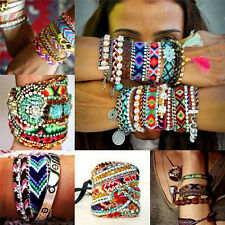 Friendship Bracelet Handmade Woven Rope String Hippy Boho Embroidery Bracelet TE