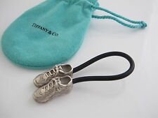 Tiffany & Co RARE Silver Sneaker Black Rubber Keychain Key Chain Key Ring!
